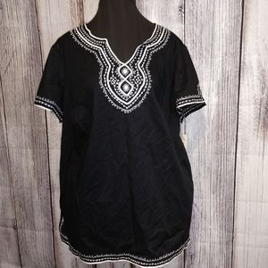 Women's cotton tunic style sequin top